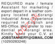 Female & Male Assistant Required