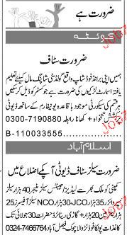 Sales Managers, Sales Officers, Salesmen Job Opportunity