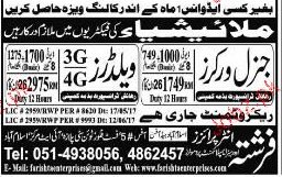 General Workers and 3G / 4G Welders Job Opportunity