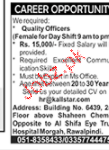 Male / Female Quality Officers Job Opportunity