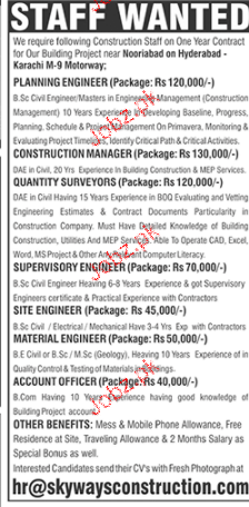 Planning Engineers, Construction Manager Wanted