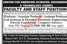 Professors, Associate Professors, Assistant Professor Wanted