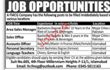 Area Sales Managers, Sales Officers Job Opportunity