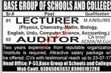 Lecturers and Auditors Job Opportunity