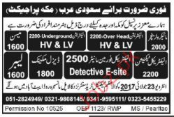 Electrician Opportunities in Saudia