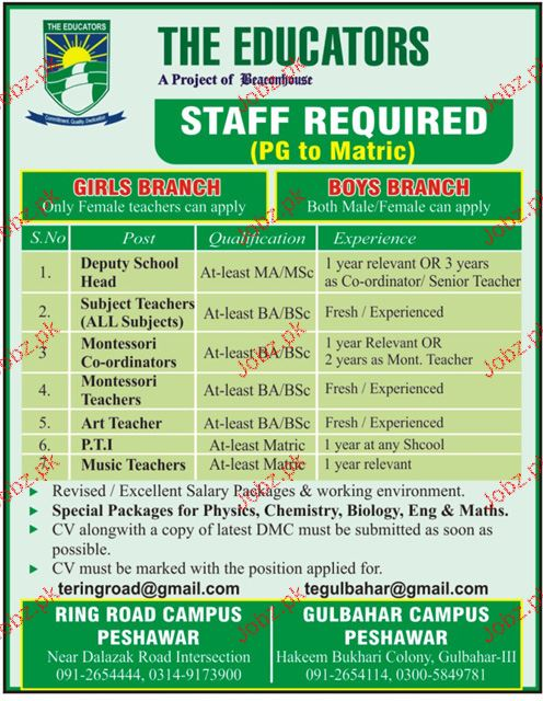 Deputy School Head, Subject Teachers Job Opportunity