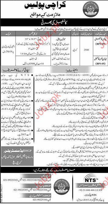 Constable Jobs In Karachi Police