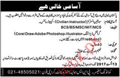 Civilian Instructor Required In Pakistan Navy