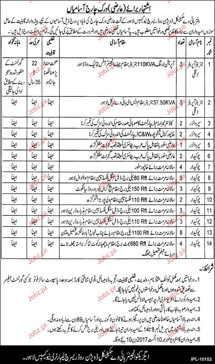 Highway Mechanical Division Jobs