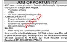 Call Center Staff Job Opportunity