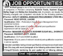 Deputy General Manager Procurement Job Opportunity