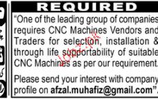 CNC Machine Vendors Job Opportunity