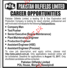 Pakistan Oilfields Limited POL Jobs
