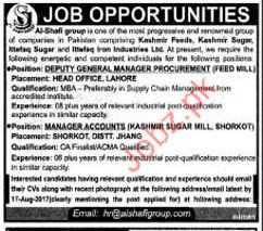 Al shifa Group Required Manager Accounts