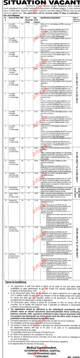 Government General Hospital Jobs