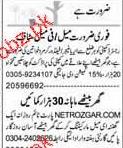 Area Mangers, Field Workers Job Opportunity