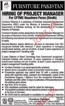 Furniture Pakistna Required Project Manager