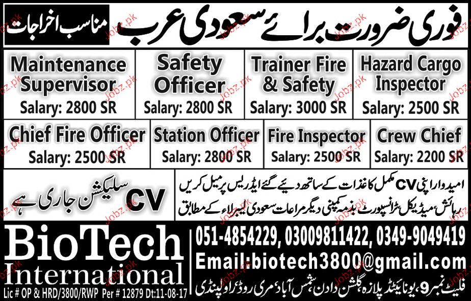 Safety Officer Jobs In Saudi Arabia With Salary