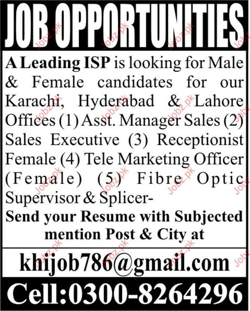 Assistant Sale Manager Required For Private company