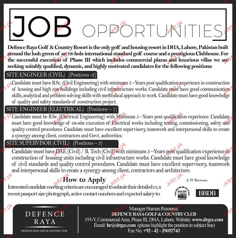 Site Engineer Civil and Site Engineer Electrical Wanted