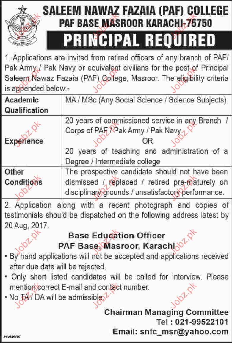PAF College Job Opportunity