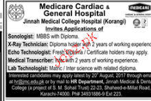 Sonologists, X Ray Technicians, ECHO Technologists Wanted