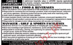 Director Foods & Beverages Jobs In Private Company