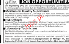 Mechanical Quality Supervisors, HSE Officers Wanted