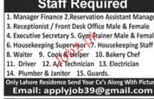 Manager Finance, Reservation Assistants Manger Wanted