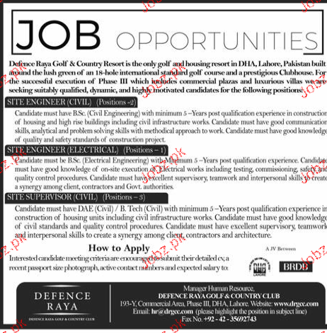 Site Engineer Civil, Electrical Engineers Job Opportunity