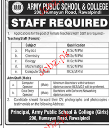 Army Public School and College APS Jobs 2019 Job