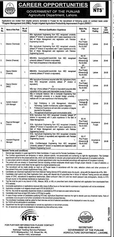 Agriculture Department NTS Jobs