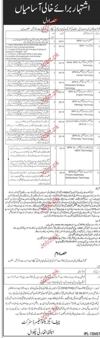 District Health Department NTS Jobs