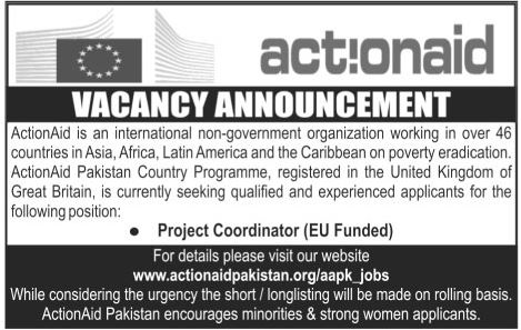 ActionAid Job Offers