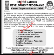 United Nations Development Programs UNDP Jobs Open