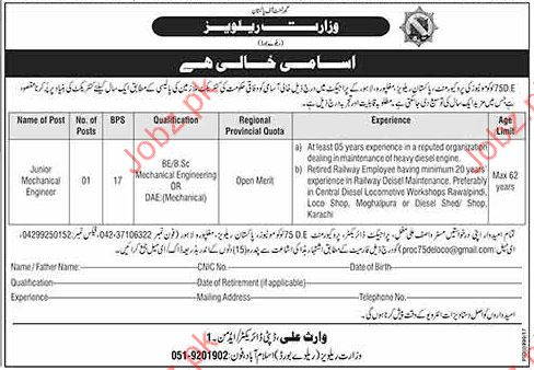 Jobs in Government of Railways