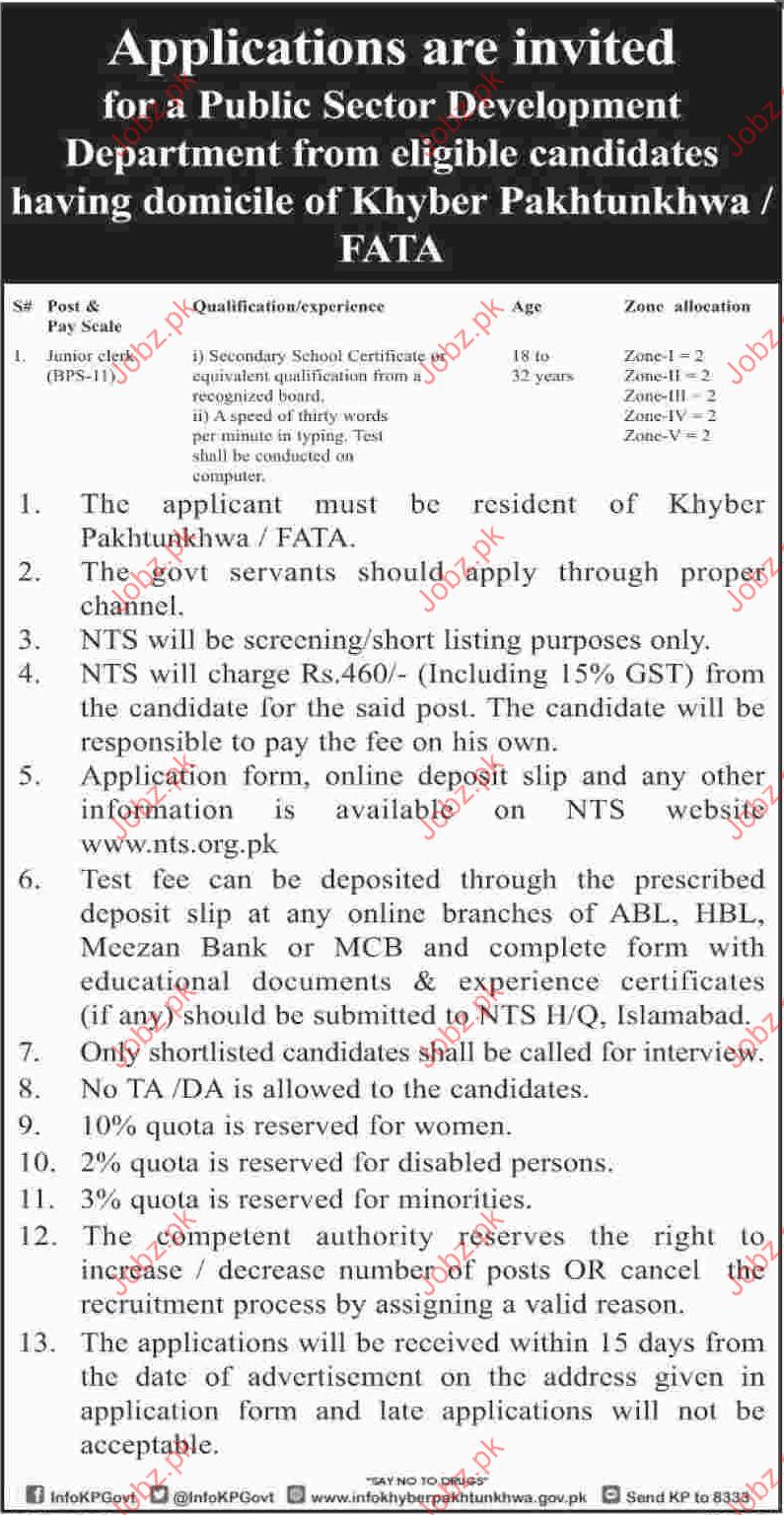 Job in Public Sector KhyberPaktunkhwa
