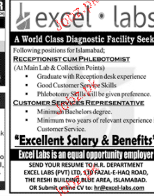 Receptionist Cum Phlebotomists Job Opportunity