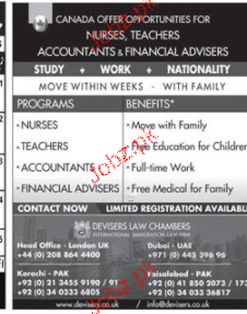 Nurses, Teachers, Manager and Accountant Job Opportunity