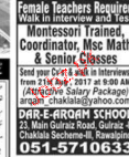 Montessori Trained Coordinators and Teachers Job Opportunity