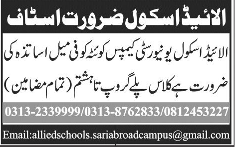 Female Teachers Job Opportunity