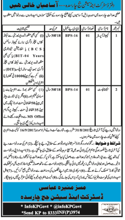 District and Session Judge Office Jobs