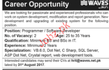 Programmers / software Developers Job Opportunity