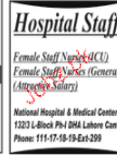 Female Staff Nurses Job Opportunity