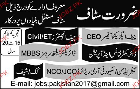 Chief Executive Officers, Chief Engineers Job Opportunity