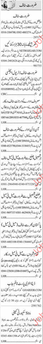 Staff Required For Travelling Agency