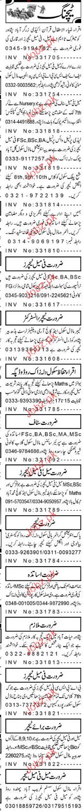 Principal, Vice Principal, Teachers Job Opportunity