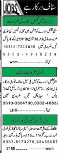 Staff Required For Field Work