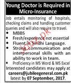 Young MBBS Doctors Job Opportunity