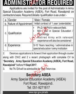 Army Special Education Academy ASEA Jobs